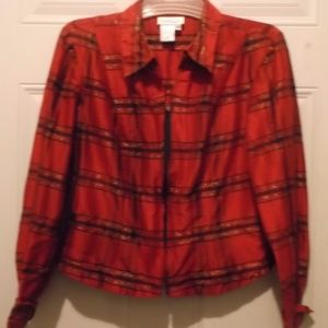 Fun, fancy jacket - 96% SILK ** NWOT